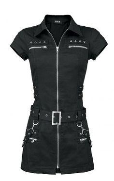 H&R Zipper Bondage Dress Black
