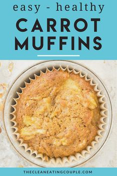 Healthy Carrot Muffins are the perfect gluten free treat! Packed with veggies + sweetened only with honey/fruit - these easy clean eating muffins are a MUST make! Flourless, made from oats and yummy - they're perfect for kids and adults! There is no sugar except for pineapple and honey! #healthy #glutenfree Healthy Carrot Muffins, Veggie Muffins, Healthy Muffin Recipes, Healthy Gluten Free Recipes, Snack Recipes, Vegetarian Recipes, Clean Eating Muffins, Easy Clean Eating Recipes, Clean Eating Breakfast