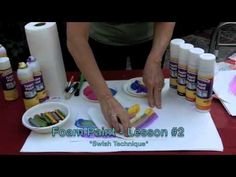 Love this foam paint method! High School Art, Middle School Art, Art Lessons, Painting Lessons, Art Journal Tutorial, Journaling, Art And Technology, Elements Of Art, Art Lesson Plans