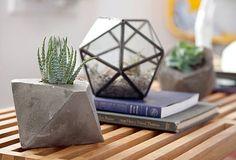 Concrete Geometric succulent planter