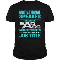 ((Top Tshirt Design) MOTIVATIONAL SPEAKER BADASS [Hot Discount Today] Hoodies