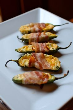 Jalapeno Poppers...oven, no breading.