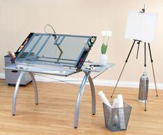 Amazon.com: Studio Designs 10095 Futura Craft Station With Folding Shelf,  Silver With