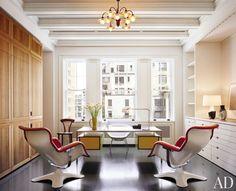 Modern Office/Library by Shelton, Mindel & Associates and Shelton, Mindel & Associates in New York, New York