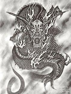 Dragon Samurai Tattoo Design Idea