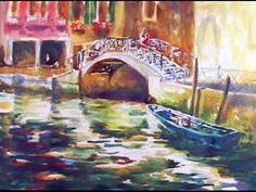 Venice Watercolor Painting Tutorial of Bridge - YouTube