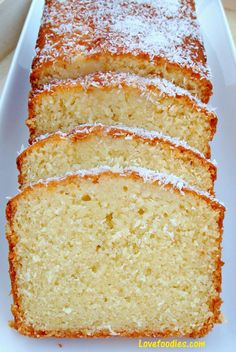 Moist Coconut Pound / Loaf Cake - Light, soft, and oh sooooo delicious! This a great cake nice and moist. Coconut Pound Cakes, Pound Cake Recipes, Moist Coconut Cake Recipe, Coconut Cake Easy, Coconut Flour, Vanilla Loaf Cake, Coconut Quick Bread, Coconut Milk Uses, Coconut Icing