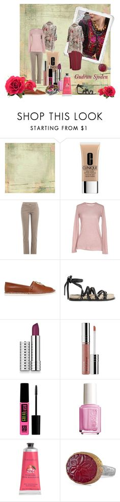 """""""Gudrun Sjoden"""" by ruthiefa ❤ liked on Polyvore featuring BasicGrey, Clinique, Brunello Cucinelli, Majestic, Casadei, Alexander Wang, Maybelline, Essie, Therapy and Emma Chapman"""