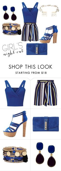 """""""Night Out"""" by tholliscole ❤ liked on Polyvore featuring Miss Selfridge, New Look, Charlotte Russe, GUESS, ALDO, Kenneth Jay Lane and girlsnightout"""