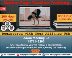 Online Yoga classes are a better way to learn yoga to hit your hectic life schedule. The foremost benefit of online Yoga class you do need to take holidays and reschedule your plans. You can do it hand in hand with your daily life and it is an affordable Yoga Course available online. Our Online Yoga Courses Available (Live Streaming Classes) • 100-Hour  • 200-Hour  • 300-Hour  • 500-Hour  • Prenatal Live Yoga Teacher Training #onlineyoga #yogaonline #yogatraining #yogattc #yogainspiration