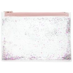 Forever21 Confetti Heart Makeup Bag (21 BRL) ❤ liked on Polyvore featuring beauty products, beauty accessories, bags & cases, cosmetic purse, toiletry bag, forever 21, toiletry kits and travel kit