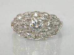 Fine Vintage Diamond Engagement Ring  0.58 by lonestarestates, $795.