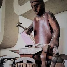 Iron Statue by Yefiel a Blacksmith  יפיאל נפחות ברזל עיצוב בברזל Blacksmithing, Stationary, Iron, Bike, Statue, Design, Bicycle Kick, Trial Bike, Bicycle