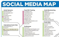 How could you use the Social Media Map!