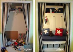 This is a great use of a closet & extra storage space!