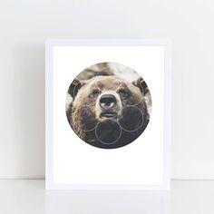 Big Bear Buddy Art Print  Inspirational Forrest by deificusArt