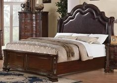 Queen Bed (Brown Cherry) By Coaster Furniture