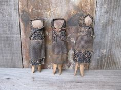 Catspaw Primitives by a Prairie Girl: Clothespin Dolls