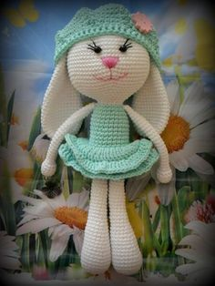"Free Pattern.....website translated says ""knitted"" incorrect....this cute bunny is crocheted."