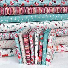 'Cats' by Makower, FQ Bundle Cottons: 8 Fabrics | www.plushaddict.co.uk