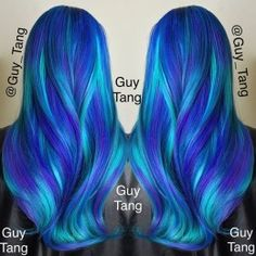 New hair balayage pastel guy tang 36 Ideas Hair Color Blue, Hair Dye Colors, Cool Hair Color, Pelo Color Azul, Guy Tang Hair, Bright Hair, Colorful Hair, Coloured Hair, Dye My Hair