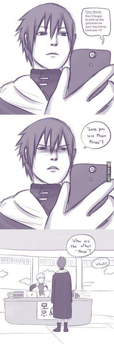 Sasuke is a simple man...