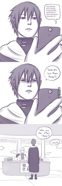 Sasuke is a simple man...<----- lol that comment. Not a fan of SasuNaru (if that's what this is) but I love Sasuke's concern xD