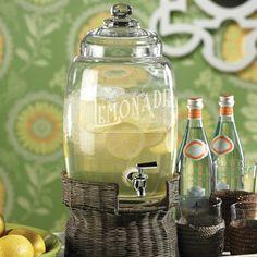 Lemonade Beverage Dispenser - perfect for brunch, dinner parties or wedding reception.  Need Kitchen Decorating Ideas? Go to Centophobe.com | #Kitchen #kitchen decorating ideas