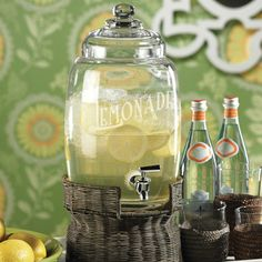 Lemonade Beverage Dispenser - perfect for brunch, dinner parties or wedding reception.  Need Kitchen Decorating Ideas? Go to Centophobe.com | #Kitchen #kitchen decorating ideas