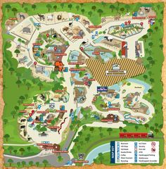 Map of San Antonio Attractions | zoo map click on map for a printable version