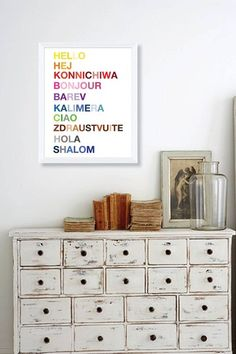 Hello Framed Giclee Wall Art
