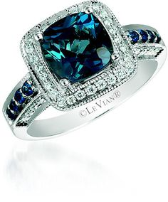 Le Vian Chocolatier Le Vian 14ct Vanilla Gold Deep Sea Blue Topaz Diamond Ring