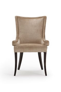 The Benham Chair is a delightful piece, with a hand stud finish.  This chair with its curved shaped back and supportive arms creates an exceptionally comfy seat. The Benham chair looks great around a dining table as well as an occasional chair sat against a wall in a lounge for additional seating. Dining Chairs, Dining Table, Occasional Chairs, Accent Chairs, Arms, Lounge, Comfy, Wall, Furniture