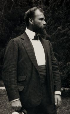 Gustav Klimt with captain's hat, Attersee c. 1904 Anonymous Photographer,