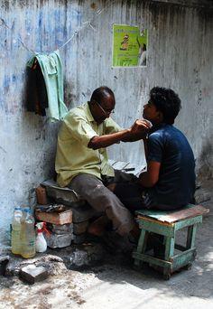 Street barber, Cuba.