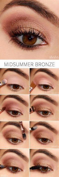 Tutorial maquillaje fácil DIT colores bronce y rosa verano