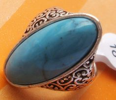 New latest turquoise ring women's gift jewelry size7 ssjz18lan7