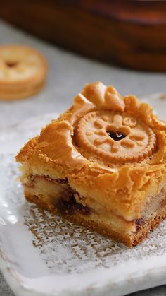 The perfect treat for Jammie Dodger lovers You are in the right place about baking soda Here we offer you the most beautiful pictures about the easy baking you are looking for. When you examine the Th Tray Bake Recipes, Brownie Recipes, Baking Recipes, Cookie Recipes, Dessert Recipes, Baking Ideas, Kid Desserts, Baking Desserts, Kitchen Recipes