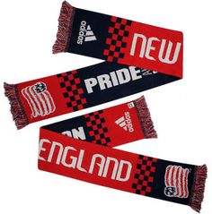 New England Revolution adidas Checker Bars Scarf