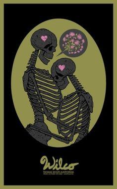 Wilco Concert Poster ( graphic design / rock poster / illustration skeleton / alt country / americana  )