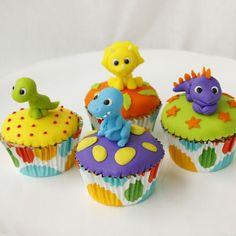 cupcakes de dinosaurios - Buscar con Google