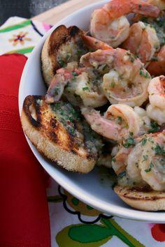girlichef: Scampi-Style Shrimp Bruschetta {#WeekdaySupper #SautéExpress}