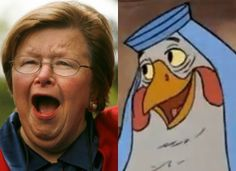 Sen. Milkulski and Lady Cluck | Politicians Who Look Like Disney Characters