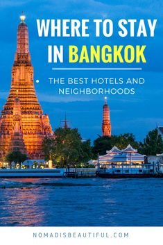 Your decision about where to stay in Bangkok can determine the outcome of your experience in the Thai capital. All you need to do is to learn where to stay in Bangkok, pick the right neighborhood, find the best accommodation in Bangkok and then just surrender to what the city offers you. #bangkoktravel #bangkokguide - @NomadisBeautiful
