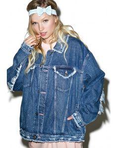 #DollsKill #lookbook #photoshoot #model #LittleSunnyBite #damaged #denim #jacket #jean #distressed