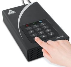 Apricorn Aegis 4TB 256-bit Encryption USB 3 Hard Drive