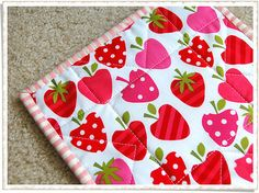 I've had some strawberry fabric for placemats for about 2 years now. I really need to sew them.