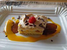 Zarte Kaffeelikörverführung - Kaffeelikörschnitte Cheesecake, Breakfast, Desserts, Food, Mocha, Raspberries, Dessert Ideas, Kaffee, Bakken