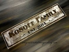Family Established Signs Personalized by OriginalBridalHanger #PersonalizdeFamilySigns are wonderful #ChristmasGifts, $45