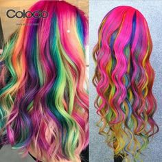 Rainbow Laces, Rainbow Hair, Rainbow Colors, Remy Human Hair, Remy Hair, Human Hair Wigs, Lace Front Wigs, Lace Wigs, Anime Wigs